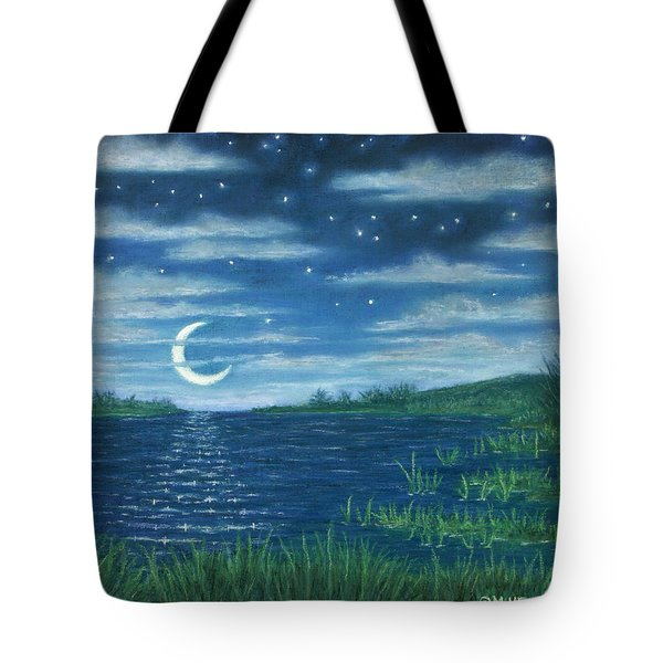 Moonlit Lagoon Tote Bag