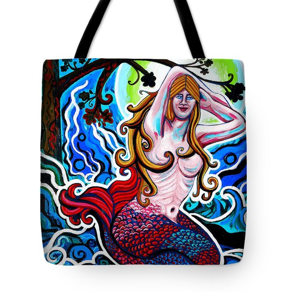 Moonlit Mermaid Tote Bag by Genevieve Esson