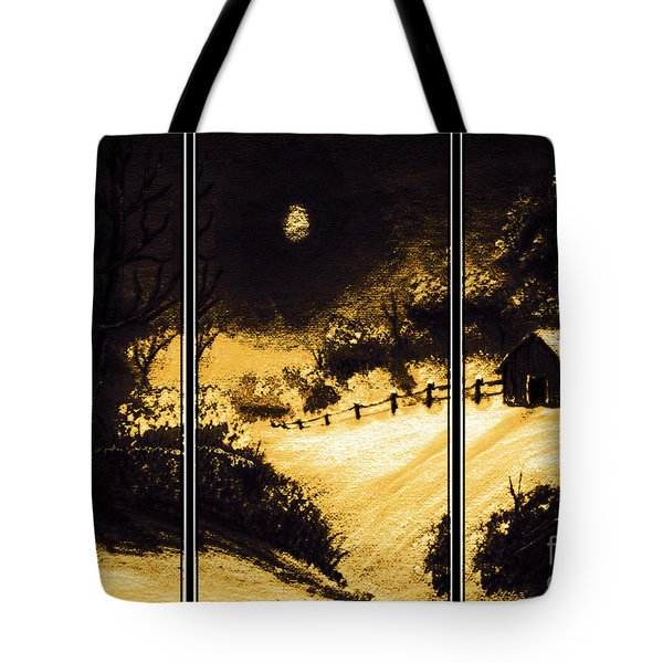 Moonlit Night Triptych Tote Bag by Barbara Griffin