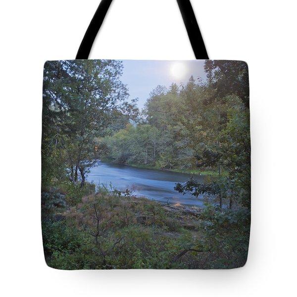 Moonlit River Tote Bag by Belinda Greb