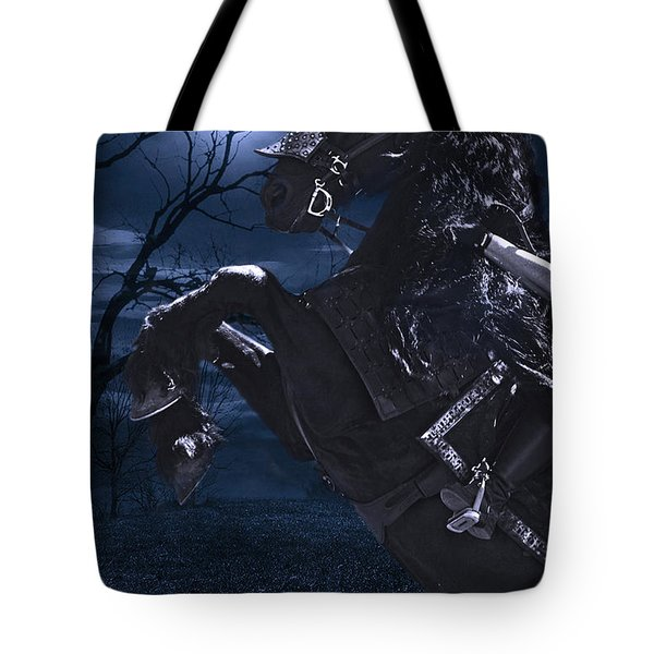 Moonlit Warrior Tote Bag by Wes and Dotty Weber
