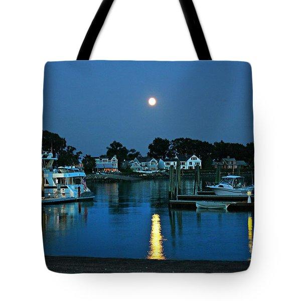Moonlit Waters - Super Moon 2014 Tote Bag by Judy Palkimas
