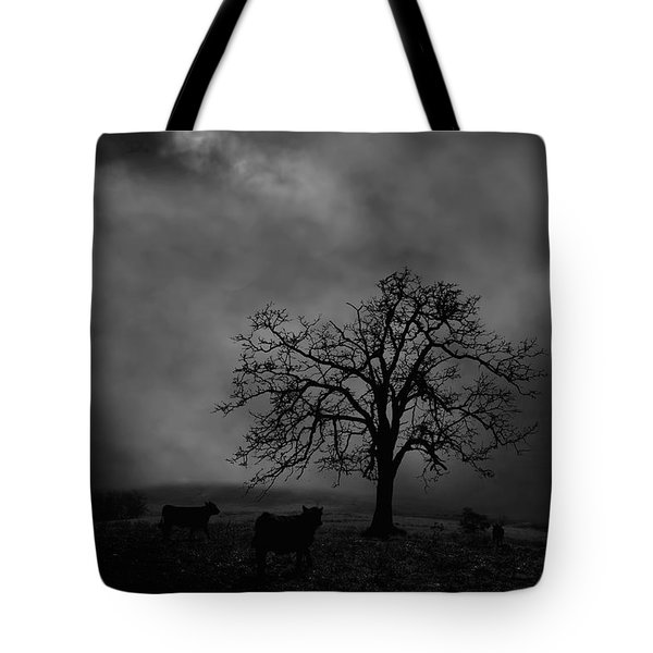 Moonlite Tree On The Farm Tote Bag by Dan Friend