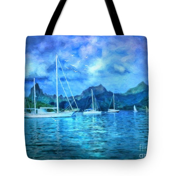 Moonrise In Mo'orea Tote Bag