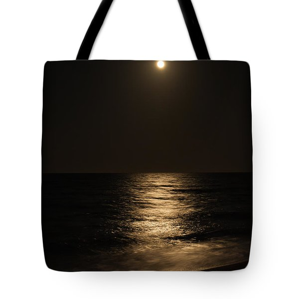 Moon Over Water Tote Bag by John M Bailey