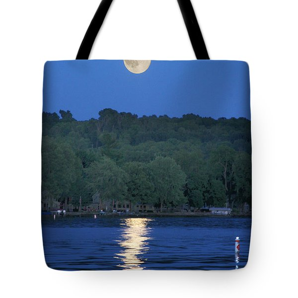 Reflections Of Luna Tote Bag by Richard Engelbrecht