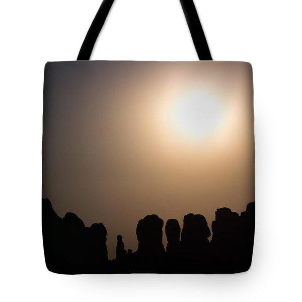 Moonrise Over Eden Tote Bag