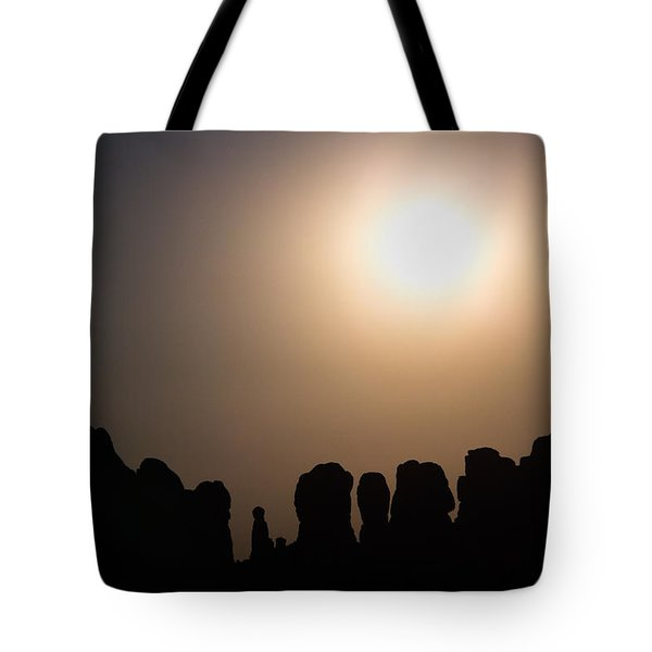 Moonrise Over Eden Tote Bag