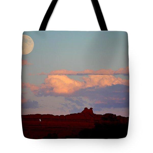 Moonrise Over Goblins Tote Bag