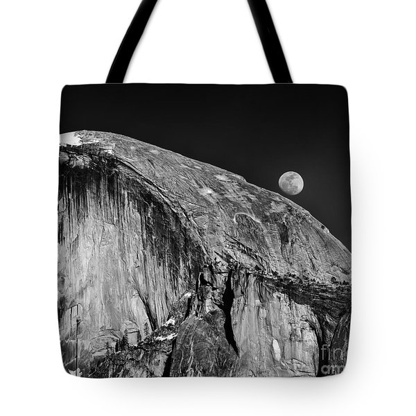 Moonrise Over Half Dome Tote Bag