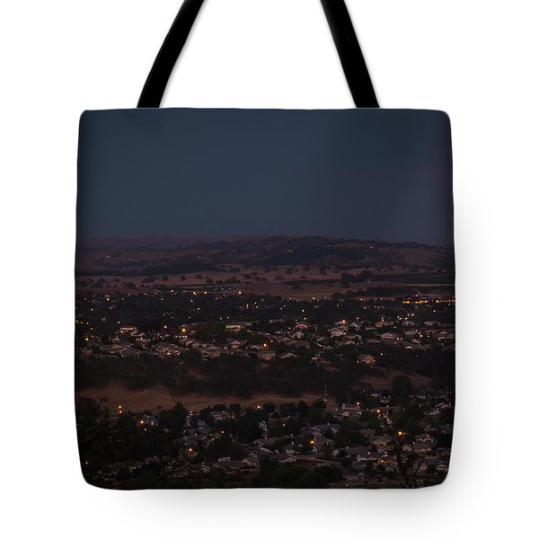 Moonrise Over Paso Tote Bag by Tim Bryan