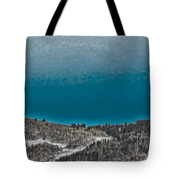 Tote Bag featuring the photograph Moonrise Over The Mountain by Don Schwartz