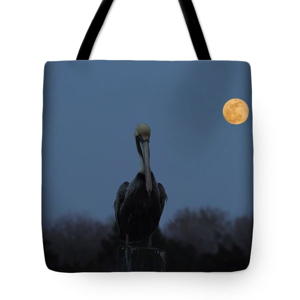 Tote Bag featuring the photograph Moon's Up by Laura Ragland