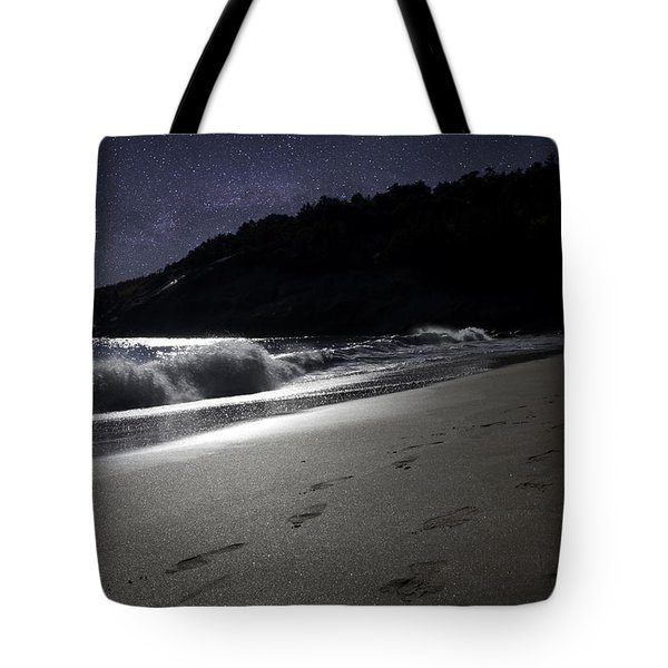 Tote Bag featuring the photograph Moonshine Beach by Brent L Ander