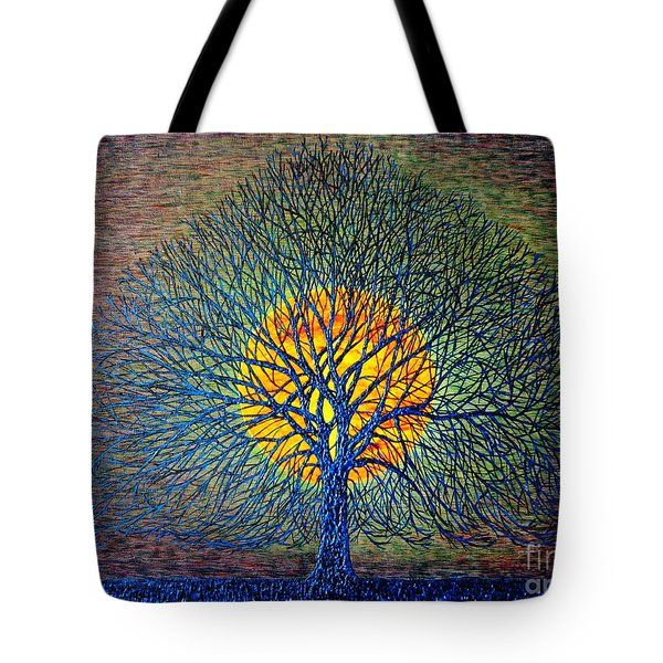 Tote Bag featuring the painting Moonshine by Viktor Lazarev