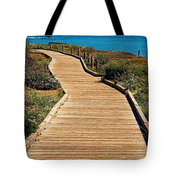 Moonstone Beach Park By Diana Sainz Tote Bag