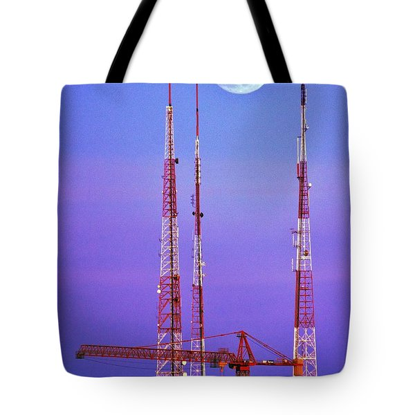 Moontowers Tote Bag by Benjamin Yeager