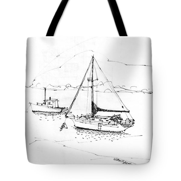 Moored Boats Monhegan Island Tote Bag