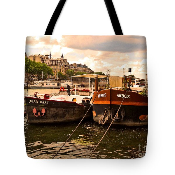 Moored Tote Bag by Lauren Leigh Hunter Fine Art Photography