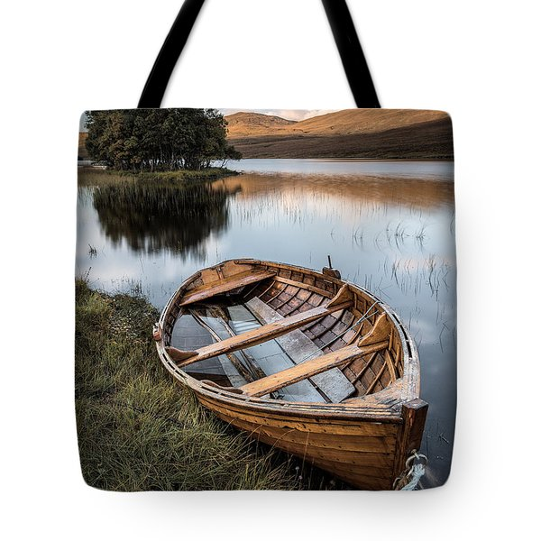 Moored On Loch Awe Tote Bag