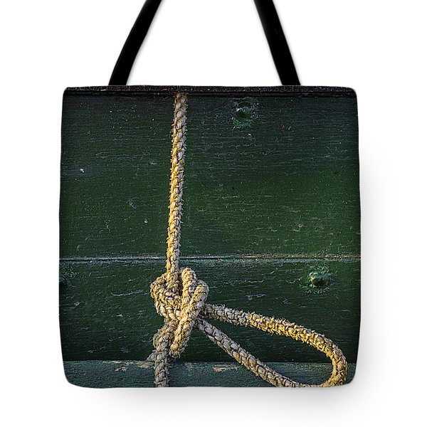 Tote Bag featuring the photograph Mooring Hitch by Marty Saccone