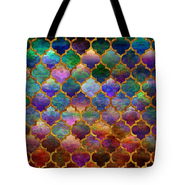 Moorish Mosaic Tote Bag by Lilia D