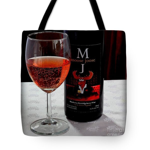 Moose Joose - Blueberry Partridgeberry Wine  Tote Bag by Barbara Griffin