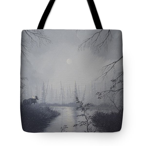 Moose Swanson River Alaska Tote Bag