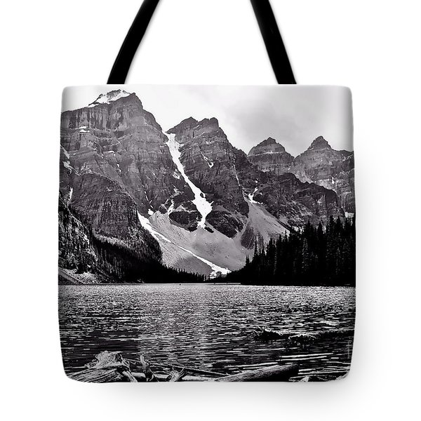 Moraine Lake Tote Bag by Linda Bianic