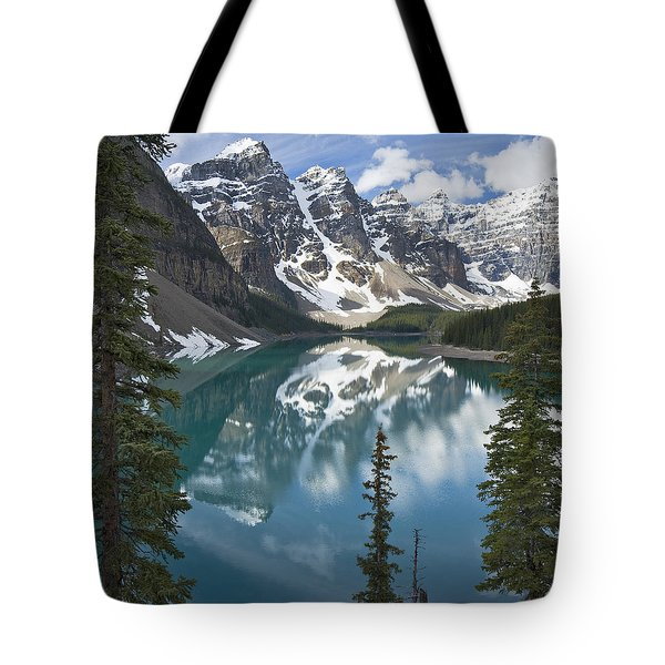 Moraine Lake Overlook Tote Bag