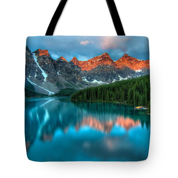 Moraine Lake Sunrise Tote Bag