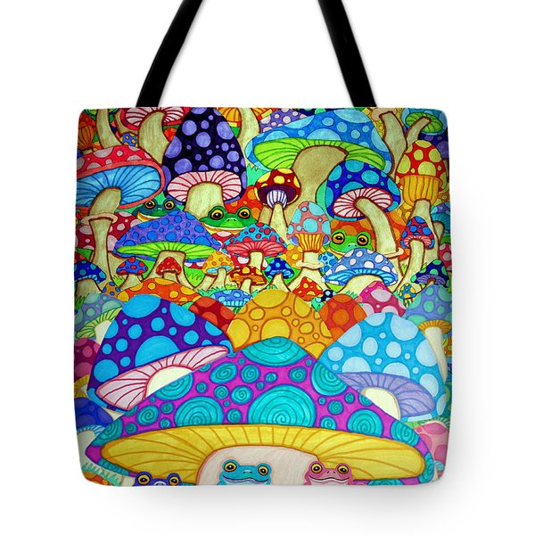 More Frogs Toads And Magic Mushrooms Tote Bag