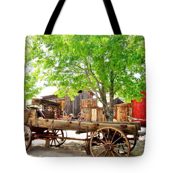 Tote Bag featuring the photograph More Old West  by Marilyn Diaz