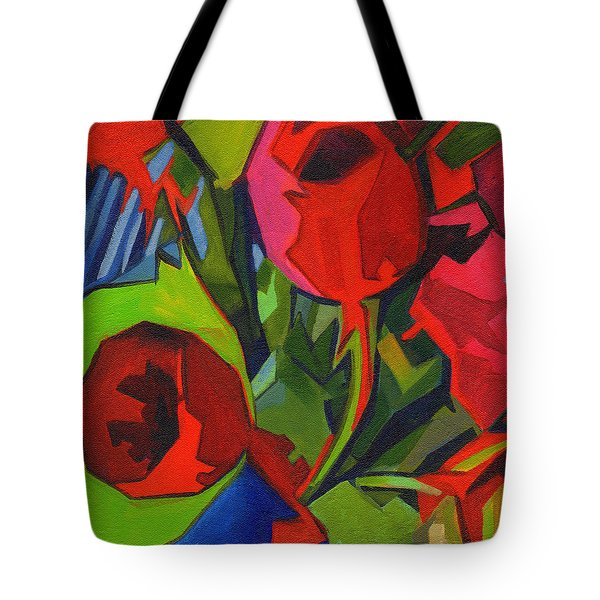 More Red Tulips  Tote Bag