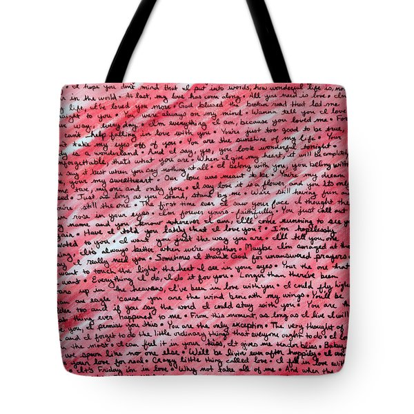 Tote Bag featuring the painting More Than Words by Jean Haynes