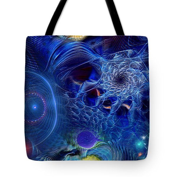 Tote Bag featuring the digital art More Things In Heaven And Earth by Casey Kotas