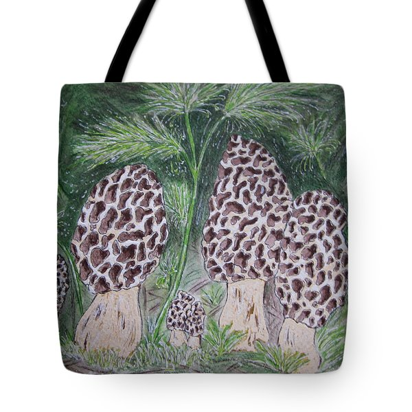 Morel Mushrooms Tote Bag
