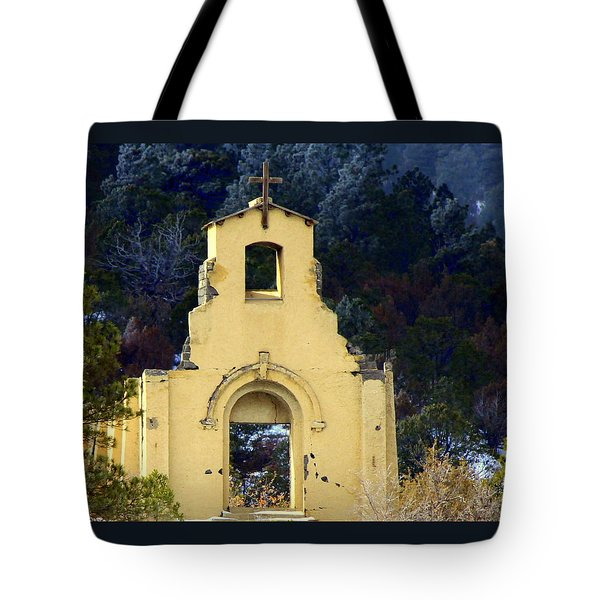 Tote Bag featuring the photograph Mountain Mission Church by Barbara Chichester