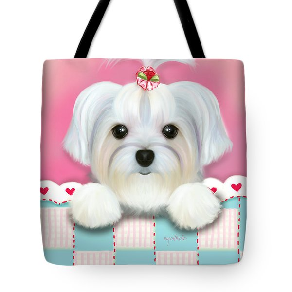 Morkie Shelly Tote Bag
