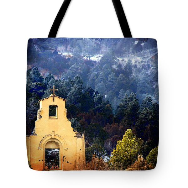 Tote Bag featuring the photograph Morley Mission 1917 Colorado by Barbara Chichester