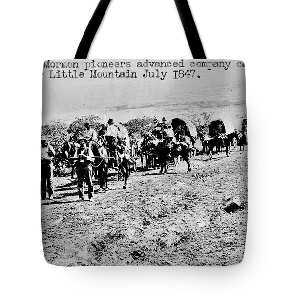Mormon Pioneers Tote Bag by Benjamin Yeager
