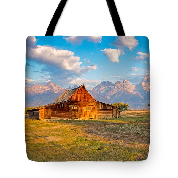 Mormon Row And The Grand Teton Tote Bag