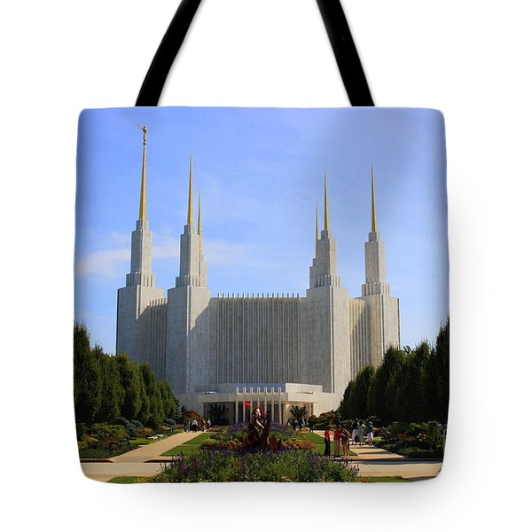 Mormon Temple Dc Tote Bag by Patti Whitten