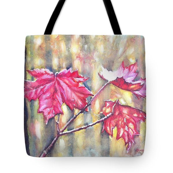 Morning After Autumn Rain Tote Bag by Shana Rowe Jackson