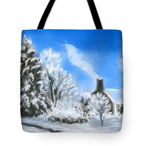 Morning After The Snowstorm  Tote Bag by Jean Pacheco Ravinski