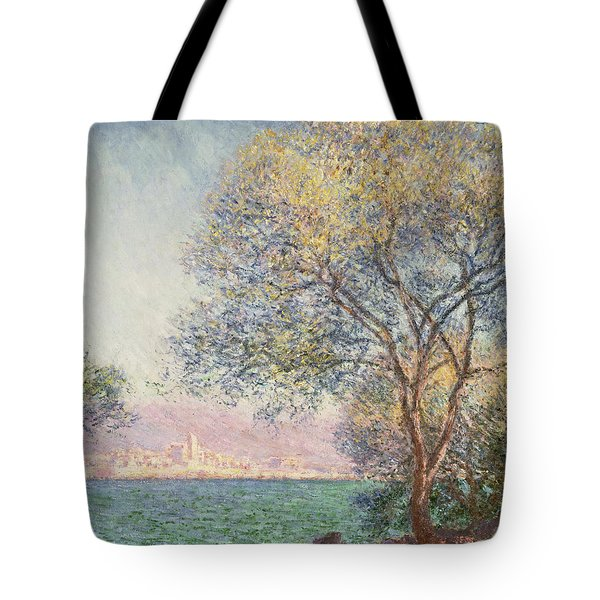 Tote Bag featuring the painting Morning At Antibes by Claude Monet