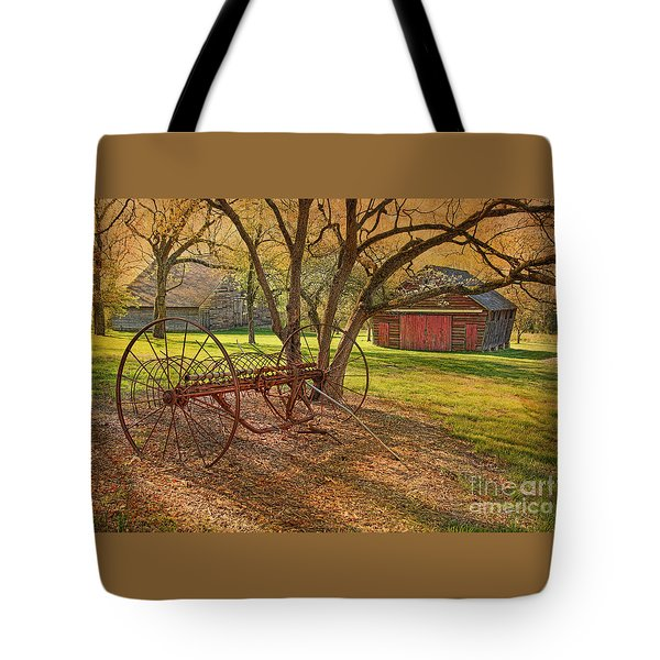 Morning At Bouman Stickney Farm Tote Bag
