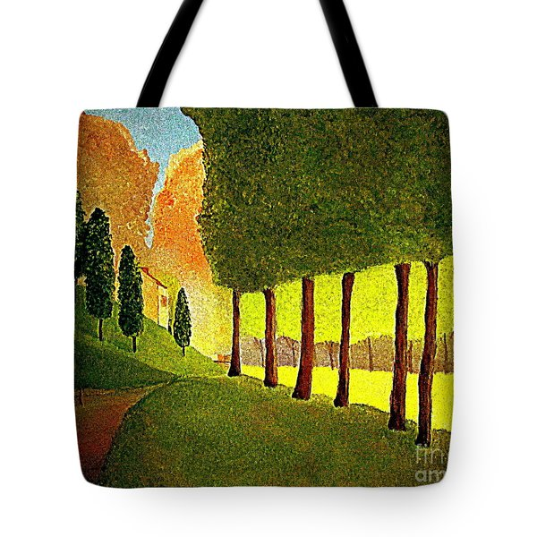 Tote Bag featuring the painting Chambord Morning By Bill O'connor by Bill OConnor