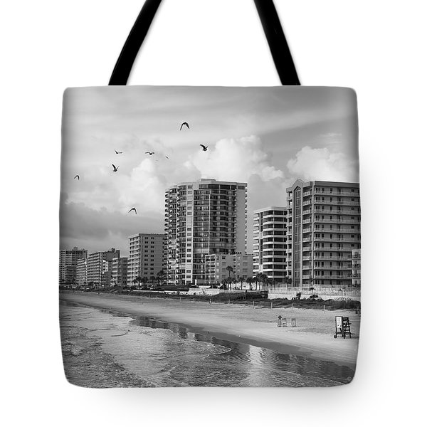 Morning At Daytona Beach Tote Bag