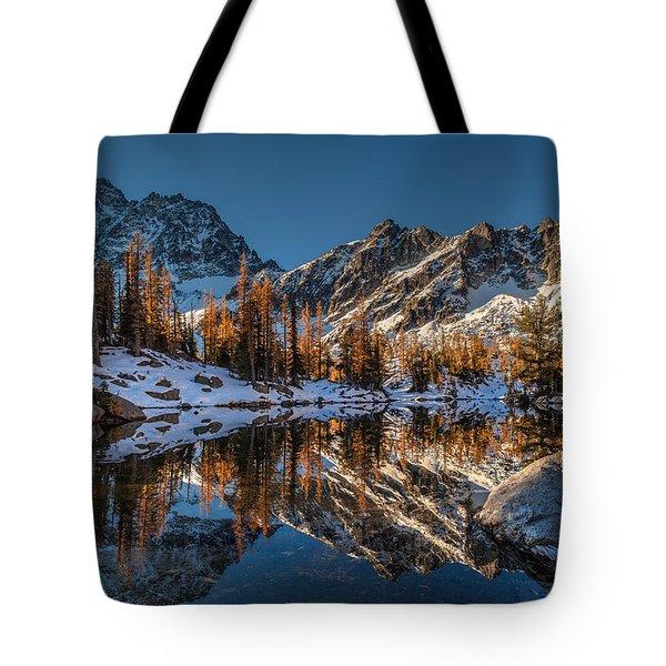 Morning At Horseshoe Lake Tote Bag by Mike Reid